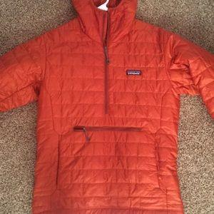 Orange patagonia nano puff bivy insulated jacket
